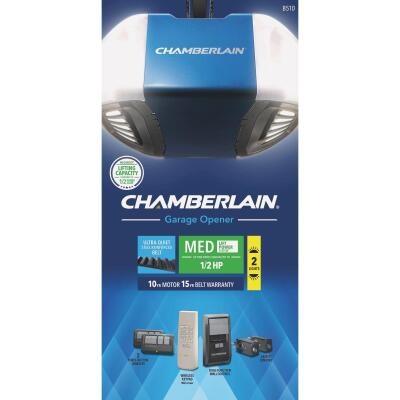 Chamberlain B-510 Quiet & Strong Belt Drive Garage Door Opener with MED Lifting Power