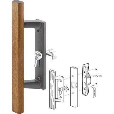 Slide-Co Internal Lock Black Aluminum Patio Door Handle Set