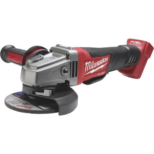 Milwaukee M18 FUEL 18 Volt Lithium-Ion Brushless 4-1/2 In. - 5 In. Cordless Angle Grinder, Paddle Switch No-Lock (Bare Tool)