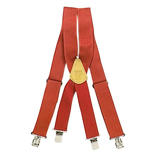 Custom Leathercraft Red Work Suspenders