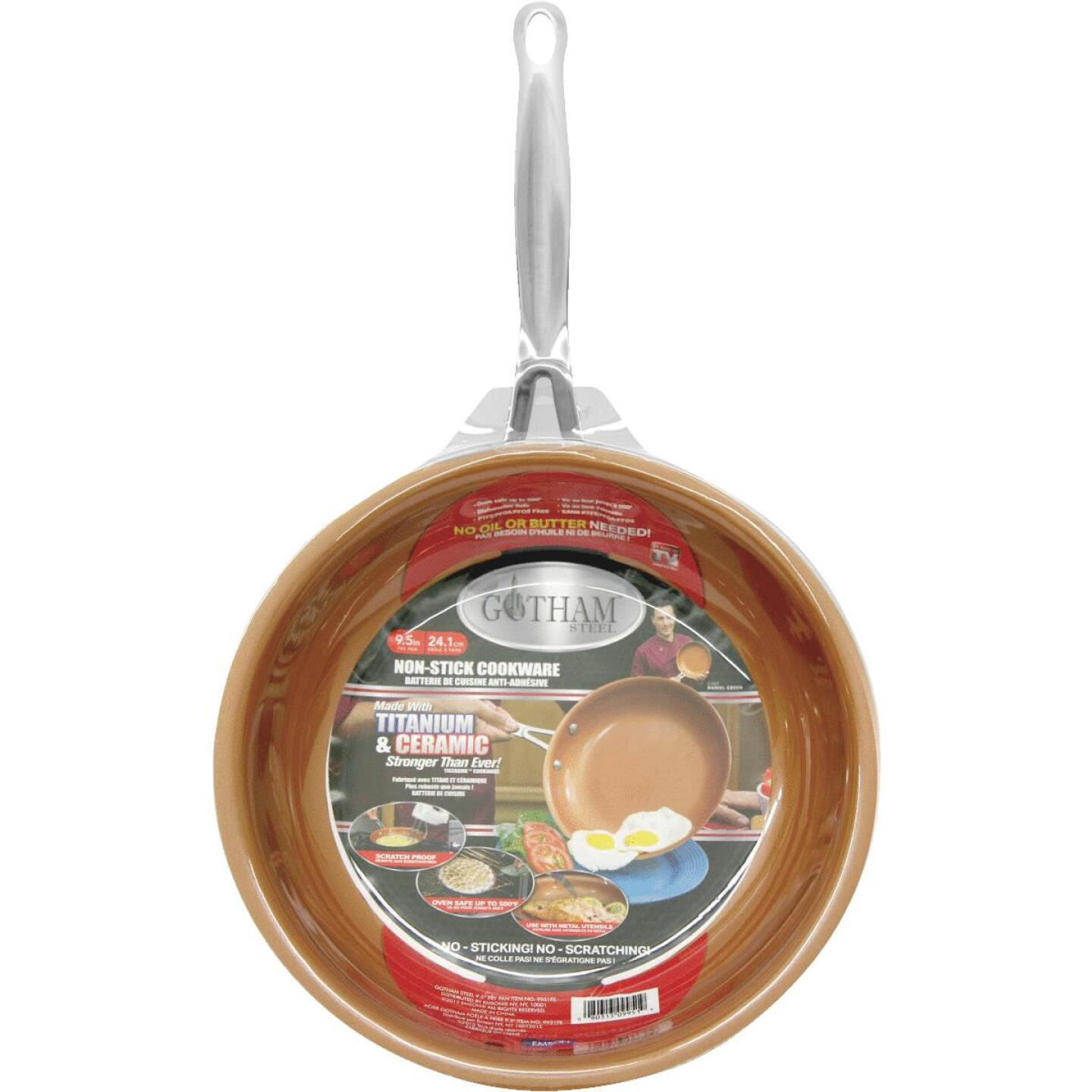Gotham Steel 9.5 In. Copper Ceramic Non-Stick Fry Pan Image 1