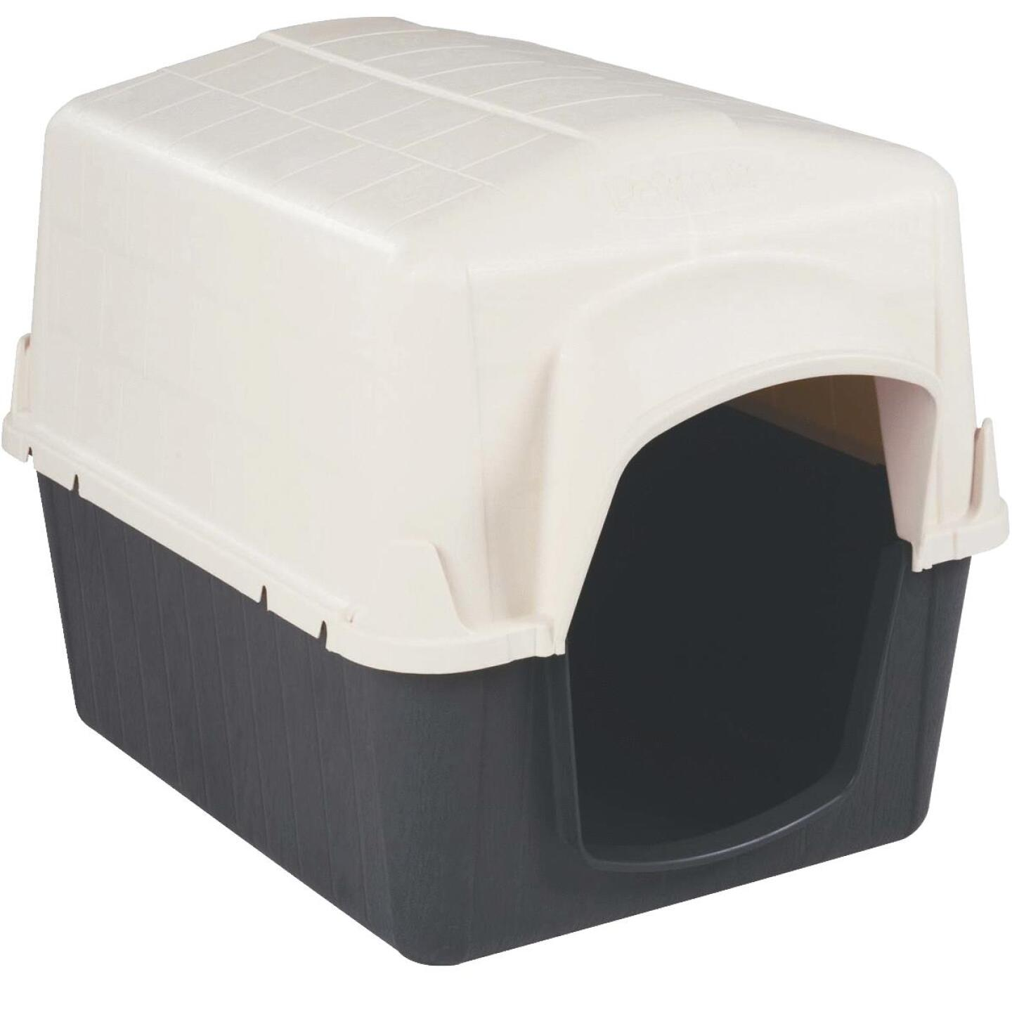 Petmate PetBarn III Almond & Cocoa Large Dog House For 50 to 90 Lb. Dogs Image 1